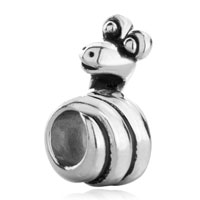 Charms Beads - silver plated cartoon snake wound european bead charms bracelets Image.