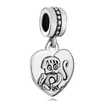Charms Beads - zodiac animal charm for bracelet sign monkey dangle heart love charm s Image.
