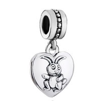 Charms Beads - zodiac animal charms for sign hare dangle heart love charm beads Image.