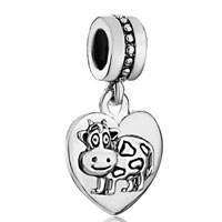 Charms Beads - heart zodiac animal charm for bracelet sign ox dangle love charm beads Image.