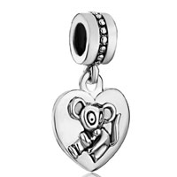 Charms Beads - zodiac animal charms for sign rat dangle heart love charm beads Image.