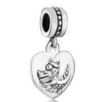 Charms Beads - zodiac animal sign dragon heart love dangle european beads fit all brands charms bracelets Image.