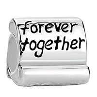 Sterling Silver Jewelry - 925  sterling silver family forever together fit beads charms bracelets all brands Image.