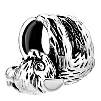 Sterling Silver Jewelry - 925 sterling silver koala hugging christmas tree sound sleep bead fit charm bracelet Image.