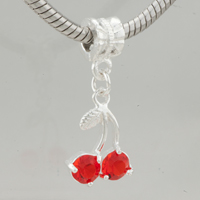 Charms Beads - july cherry fit all brands dangle european beads charms bracelets Image.