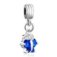Charms Beads - topaz december birthstone butterfly charm spacer dangle beads charm Image.