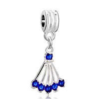Charms Beads - december births sector crystal dangle charm beadbead charm & bracelet Image.