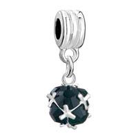 Charms Beads - silver may birthstone fancy dangle european bead charm bracelet Image.