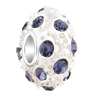 Charms Beads - white ball june birthstone alexandrite crystal stripe european bead Image.