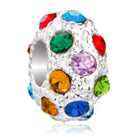 Charms Beads - white ball colorful fashion elements crystal stripe beads charms Image.