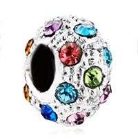 Charms Beads - fashion multicolor crystal birthstone european bead charm bracelets Image.