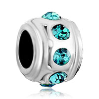 Charms Beads - birthstone charms pale blue crystal march birthstone surround beads Image.