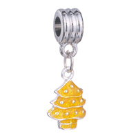 Charms Beads - silver plated topaz tree charm bracelet spacer european bead dangle Image.