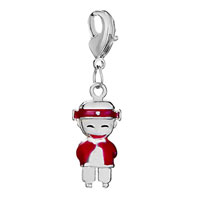 Charms Beads - silver plated happy red american girl charm bracelet european bead Image.