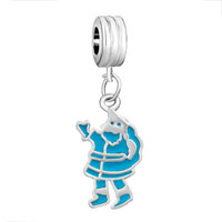 Charms Beads - blue santa claus fit all brands dangle european beads charms bracelets Image.