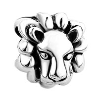 Charms Beads - lion head animal charms for bracelets brands gift european bead Image.