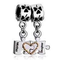 Mother Daughter Charm Bracelet Heart Charm Bracelet Love Charm Clover
