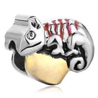 Charms Beads - chameleon back red drip heart charm bracelet love european bead Image.