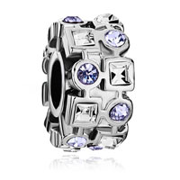 Charms Beads - birthstone charms ferris wheel with june birthstone light amethyst crystal round and clear square european beads Image.
