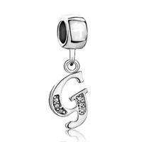 Charms Beads - letter initial april birthstone dangle alphabet beads charm bracelet Image.