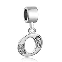 Charms Beads - letter initial o april alphabet dangle european beads fit all brands Image.