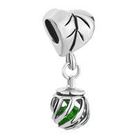 Charms Beads - filigree heart charm bracelet dangle lantern august births peridot Image.