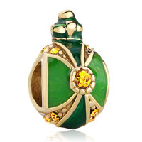 Charms Beads - crown peridot light topaz crystal faberge egg beads charm bracelets Image.