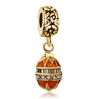 New Year Deals - golden faberge egg dangle bead charm bracelets bead charm bracelets Image.