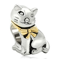 Charms Beads - gifts 22k gold silver cute cat animal charms for bracelets charm Image.