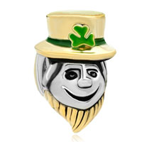 Charms Beads - 22k gold funny magician st patrick bead charm bracelets charm Image.