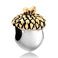 Charms Beads - silver gold leaf acorn fruit european bead designer charm bracelets Image.
