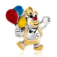 Charms Beads - gold clown jumpping colorful balloon bead designer charm bracelets Image.