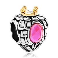 Charms Beads - heart charm bracelet love rose pink crystal bead charms bracelets Image.