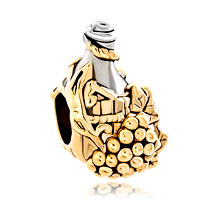 Charms Beads - silver gold grap wine bottle european bead designer charm bracelets Image.