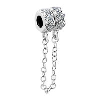 Charms Beads - star bead chain link charms for bracelets pewter lock charm bead Image.