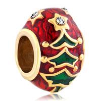 Charms Beads - gold christmas charm bracelet tree easter faberge egg bracelets Image.