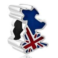 Charms Beads - jack patriotic proud to be british flag country of uk map lucky bead Image.