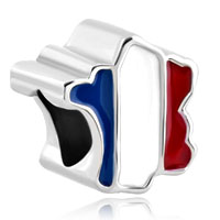 Charms Beads - patriotic proud to be france flag country of france map lucky charm Image.