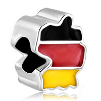 Charms Beads - patriotic proud to be german flag country of german map lucky charm Image.