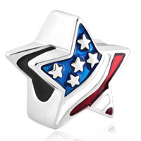 Charms Beads - american flag patriotic stars and stripeslucky charms bracelets Image.