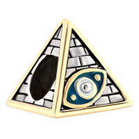 Charms Beads - antique masonic evil eye on egyptian pyramids beads charms bracelets fit all brands Image.