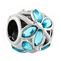 Charms Beads - pugster?  aquamarine blue elements crystal for beads charms bracelets fit all brands Image.