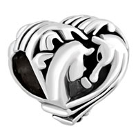 Charms Beads - filigree heart couples horse best friends forever for beads charms bracelets fit all brands Image.