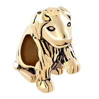 Charms Beads - pet retrievers puppy dog animal gold plated beads charms bracelets fit all brands Image.