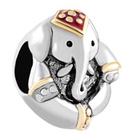 Charms Beads - antique' d thailand elephant animal beads charms bracelets fit all brands Image.