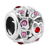 New Arrivals - birthstone charms filigree open heart love rose pink elements crystal bead Image.
