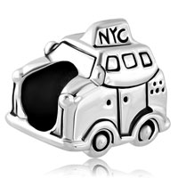 Charms Beads - silver plated new york car taxi travel beads charms for bracelets Image.