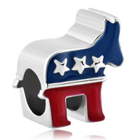 Charms Beads - pugster?  silver plated the donkey american party usa for beads charms bracelets fit all brands Image.