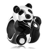 Charms Beads - silver plated black white panda love animal beads charms bracelets fit all brands Image.