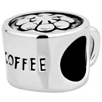 Charms Beads - silver plated coffee cup cafe lover beads charms bracelets fit all brands Image.